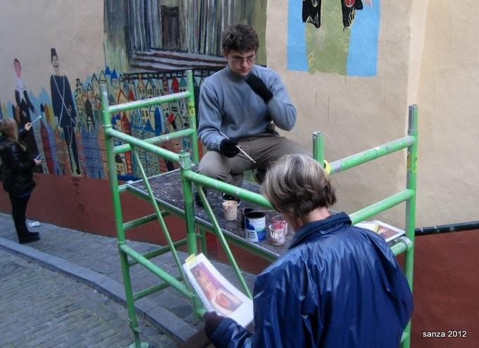 fresque murale,art mural,bd murale,bdmurale,bd,art urbain,fresque,bd   fresque,chandeliers,lise brachet